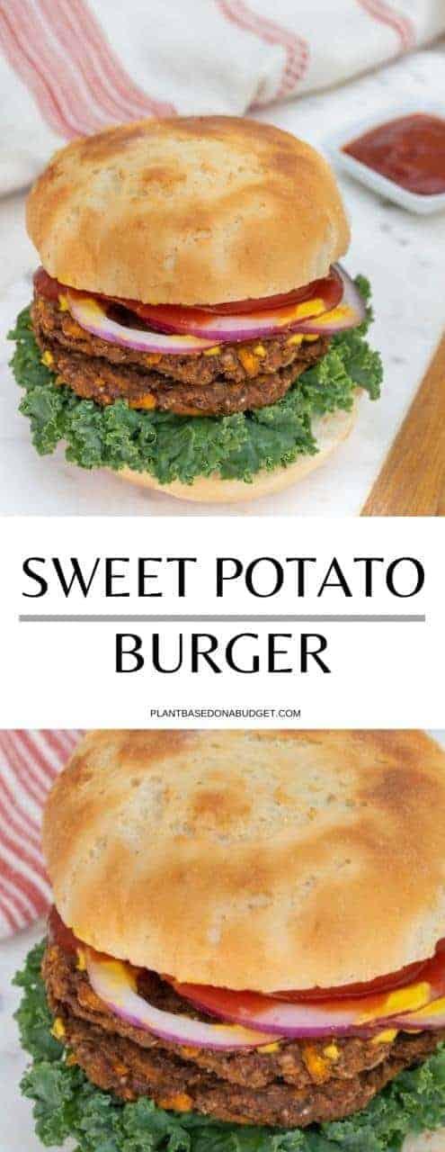 Sweet Potato & Jalapeño Burger | Plant-Based on a Budget | #burger #vegan #sweet #potato #jalapeño #plantbasedonabudget