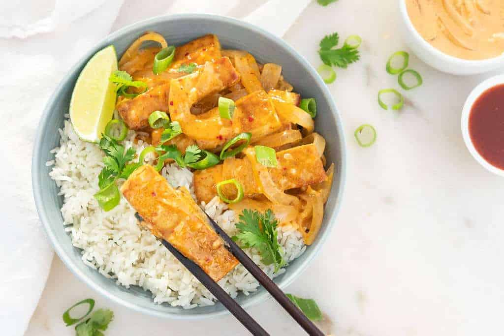 Sweet Coconut Thai Tofu | Plant-Based on Budget | #thai #tofu #sweet #coconut #vegan #plantbasedonabudget