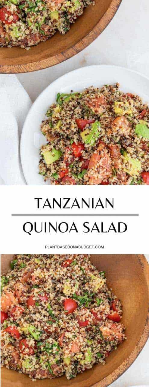 Tanzanian Quinoa Salad with Avocado and Grapefruit   Plant-Based on a Budget   #quinoa #salad #tanzanian #vegan #plantbasedonabudget