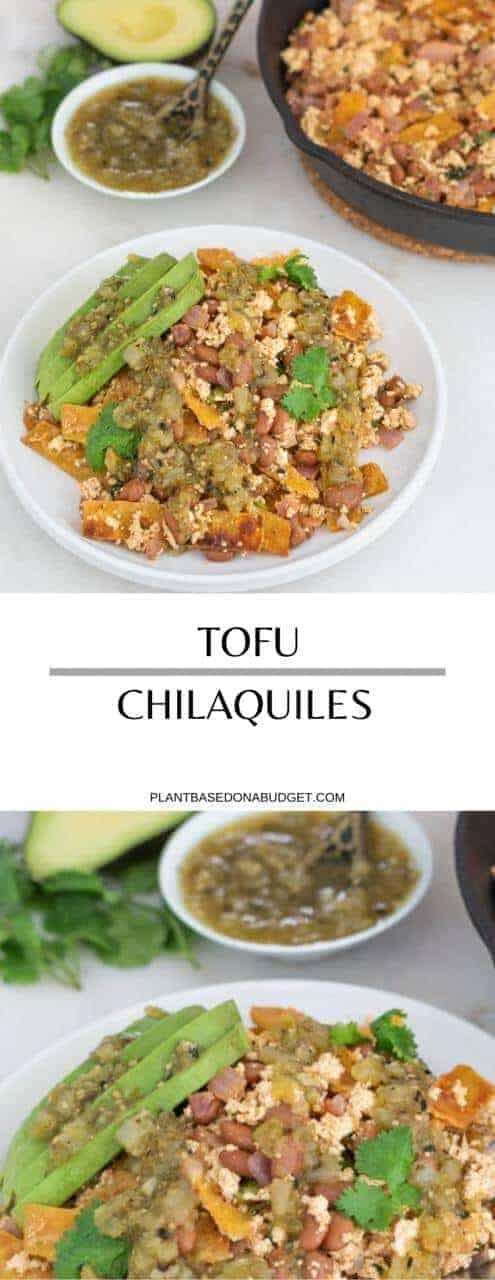 Tofu Chilaquiles   Plant-Based on Budget   #tofu #chilaquiles #mexican #vegan #plantbasedonbudget
