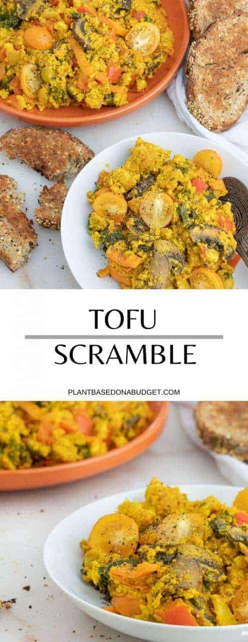 Our Favorite Tofu Scramble   Plant-Based on a Budget   #tofu #scramble #vegan #breakfast #polenta #plantbasedonabudget