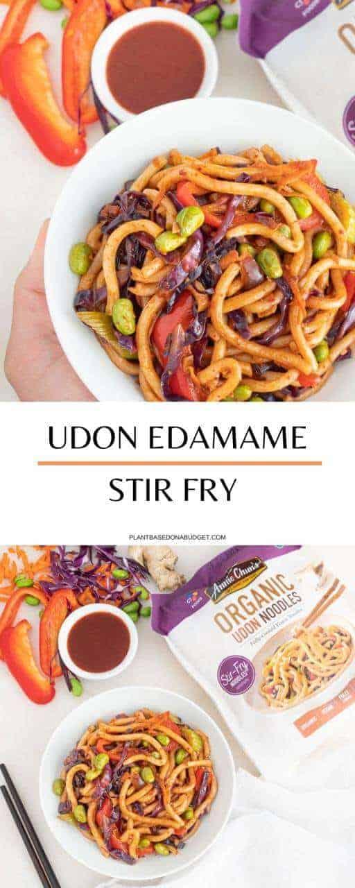 Udon Edamame Stir Fry | Plant-Based on a Budget | #udon #noodles #stir #fry #edamame #plantbasedonabudget