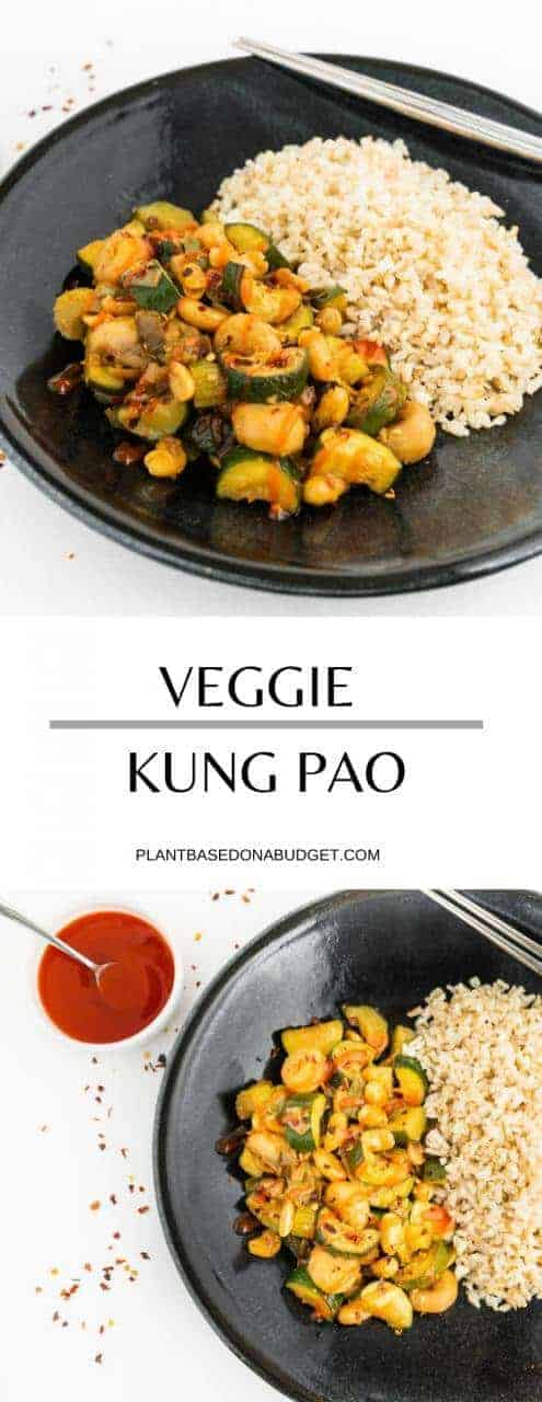 Veggie Kung Pao | Plant-Based on a Budget | #veggie #kung #pao #asian #vegan #plantbasedonabudget