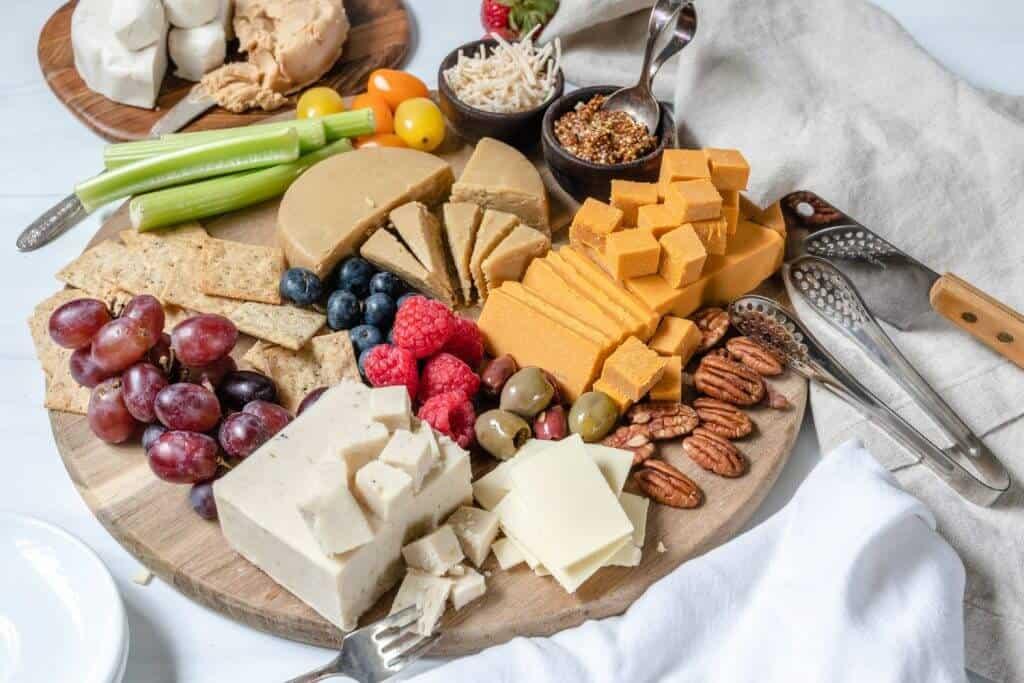 Vejii Vegan cheese Platter Plant Based on a Budget 4