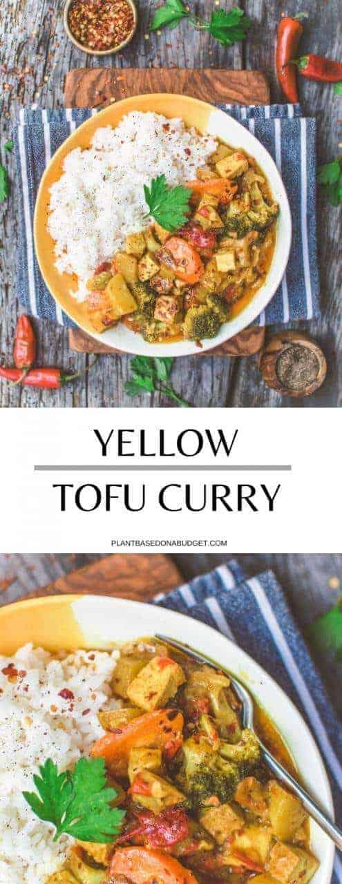 Yellow Tofu Curry | Plant-Based on a Budget | #curry #tofu #thai #vegan #yellow #dinner #plantbasedonabudget