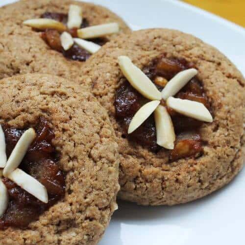 almond pear thumbprint cookies 1 scaled