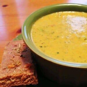 cream of broccoli soup 1
