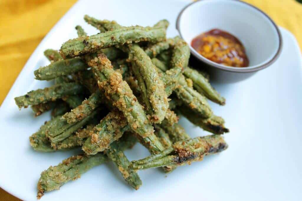 crispy flax green beans scaled