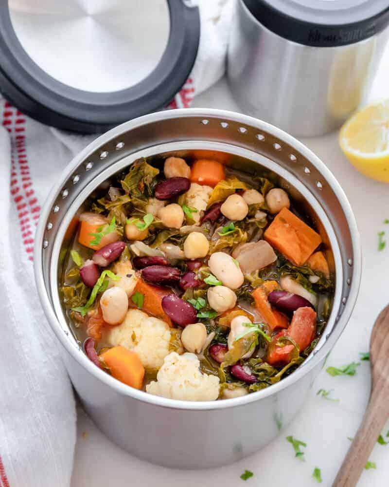 klean kanteen Hearty Kale Bean Soup Plant Based on a Budget 4