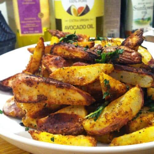 oven baked garlic fries 1