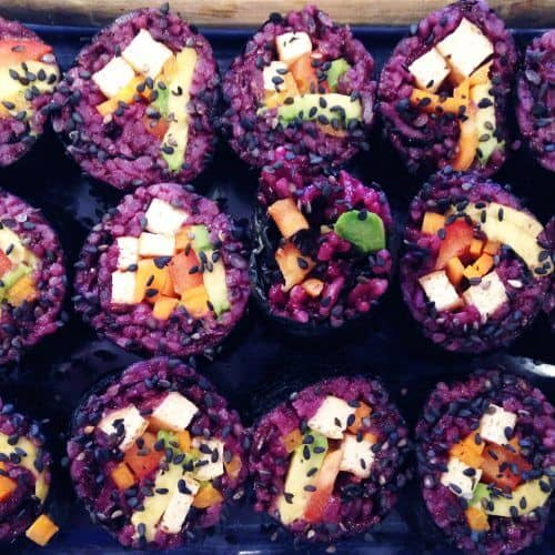 purple jasmine veggie sushi 1 scaled