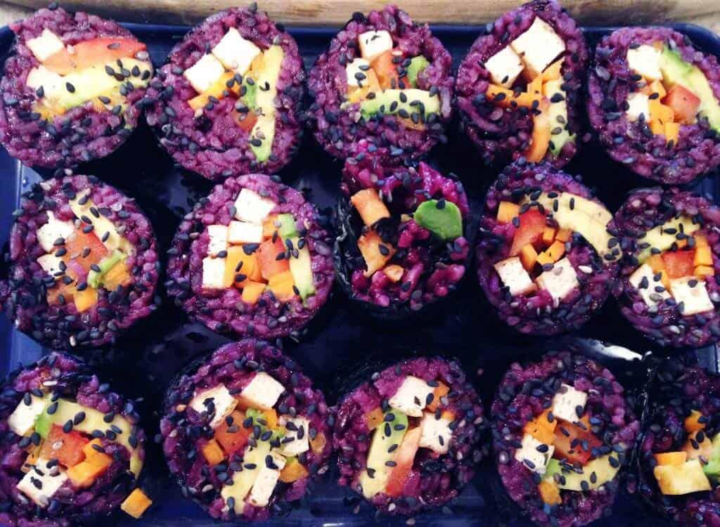 purple jasmine veggie sushi scaled