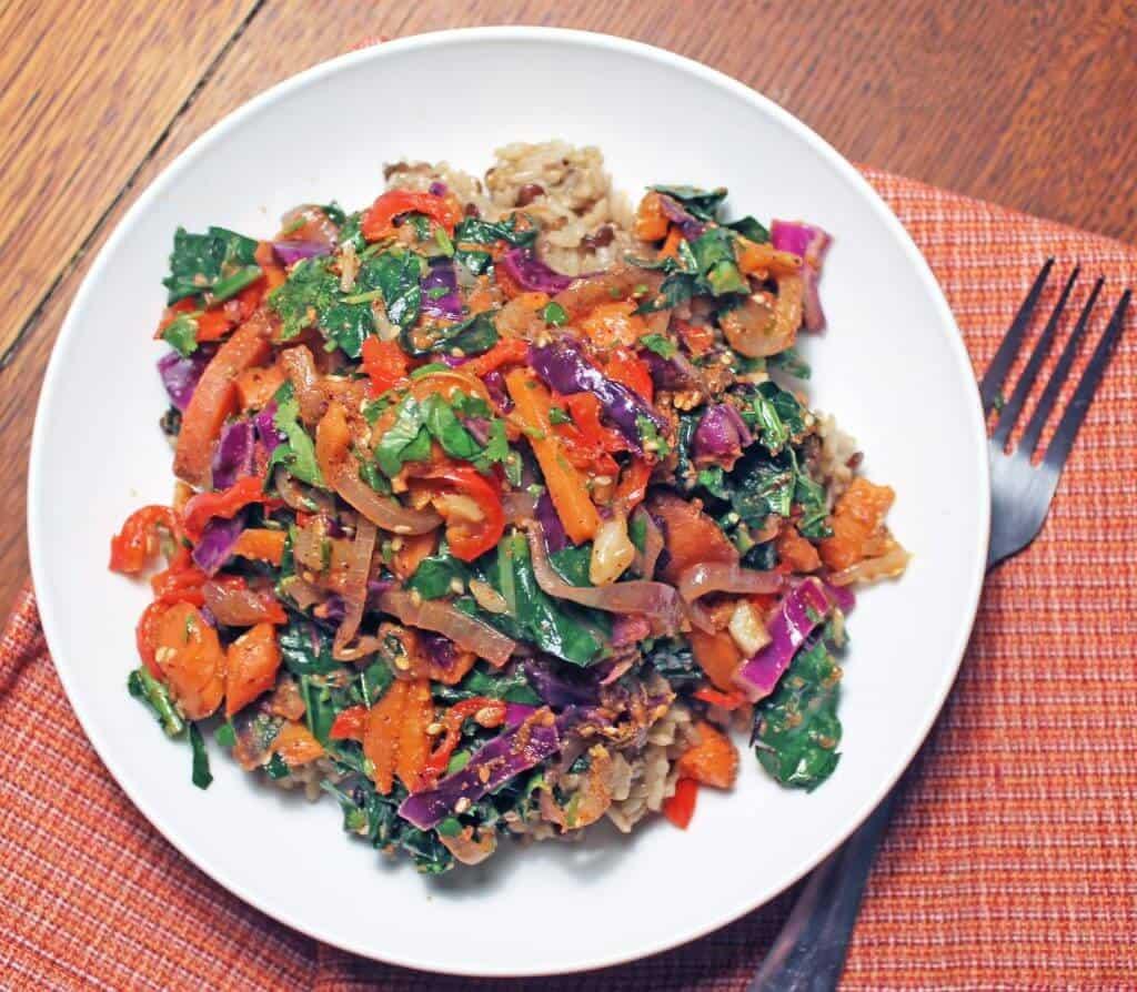 rainbow fried rice scaled