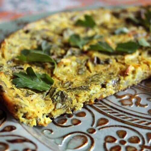 vegan frittata kuku ye sabzi close up 1 scaled