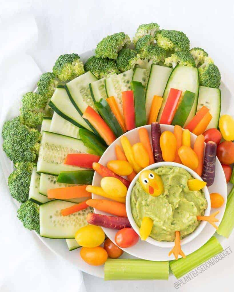 Veggie Turkey Platter   Plant-Based on a Budget   #veggie #platter #turkey #vegan #thanksgiving #plantbasedonabudget