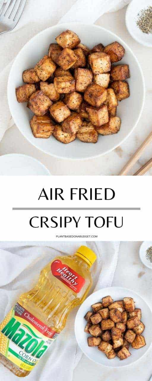 Crispy Air Fried Tofu Pinterest Graphic