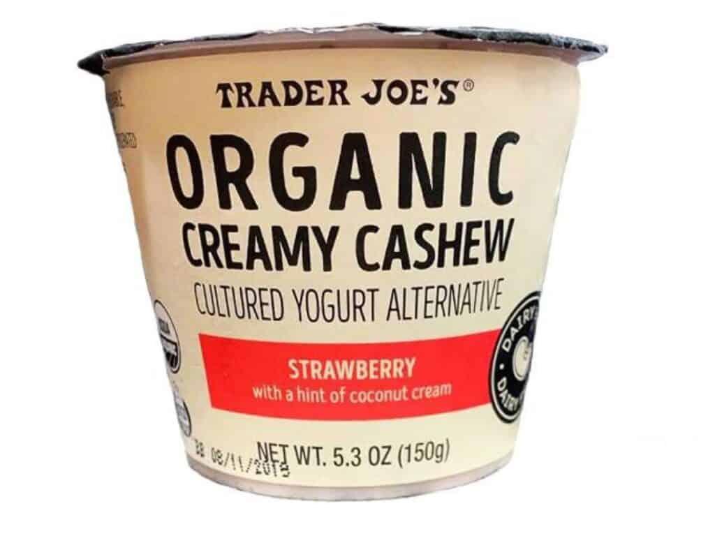 Creamy Cashew Cultured Yogurt Alternative packaging against white background
