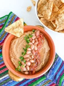 Perfect Pinto Bean Dip   Plant-based on a Budget   #dip #pinto #bean #spread #vegan #plantbasedonabudget