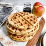 Vegan Apple Cinnamon Waffles Plant Based on a Budget 27