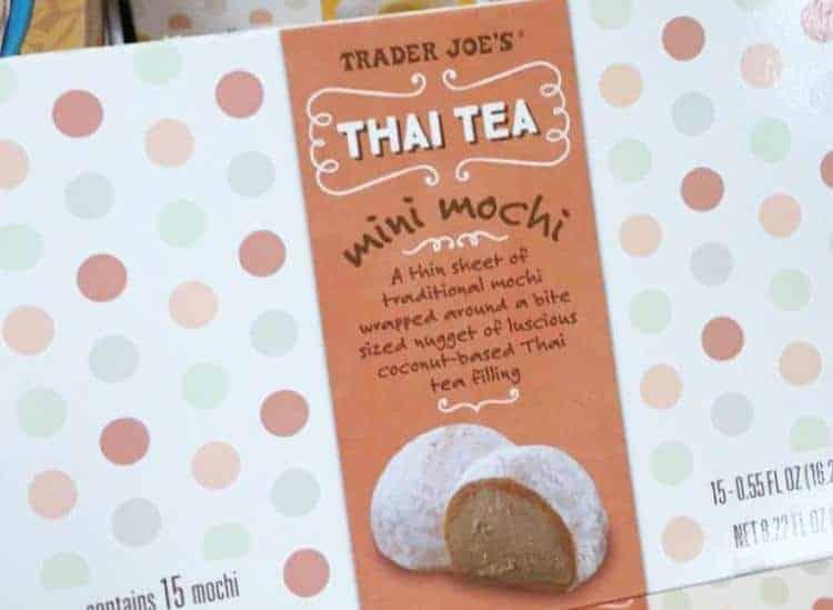 thai tea mini mochi in packaging